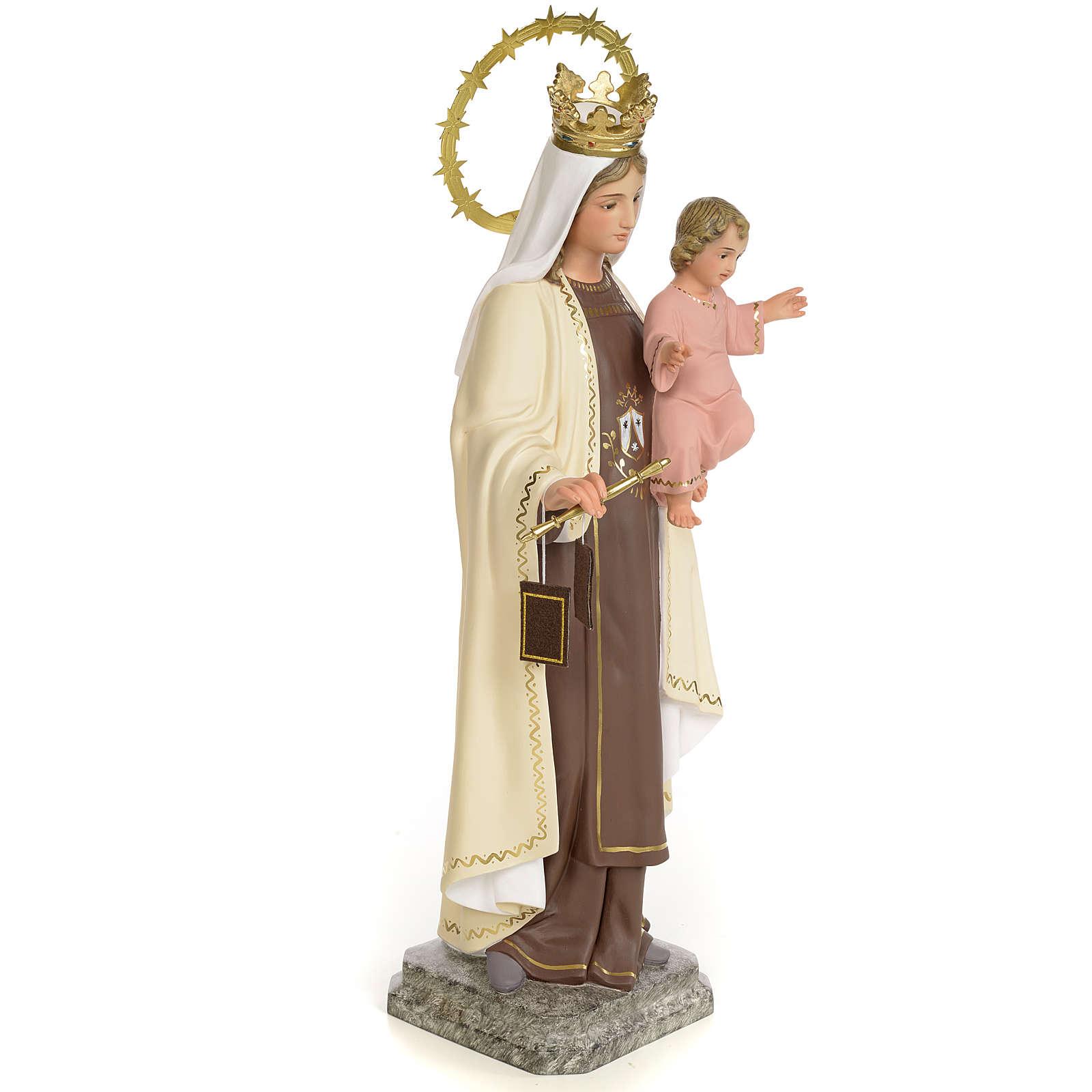 Vergine del Carmelo 40 cm pasta di legno dec. fine 4