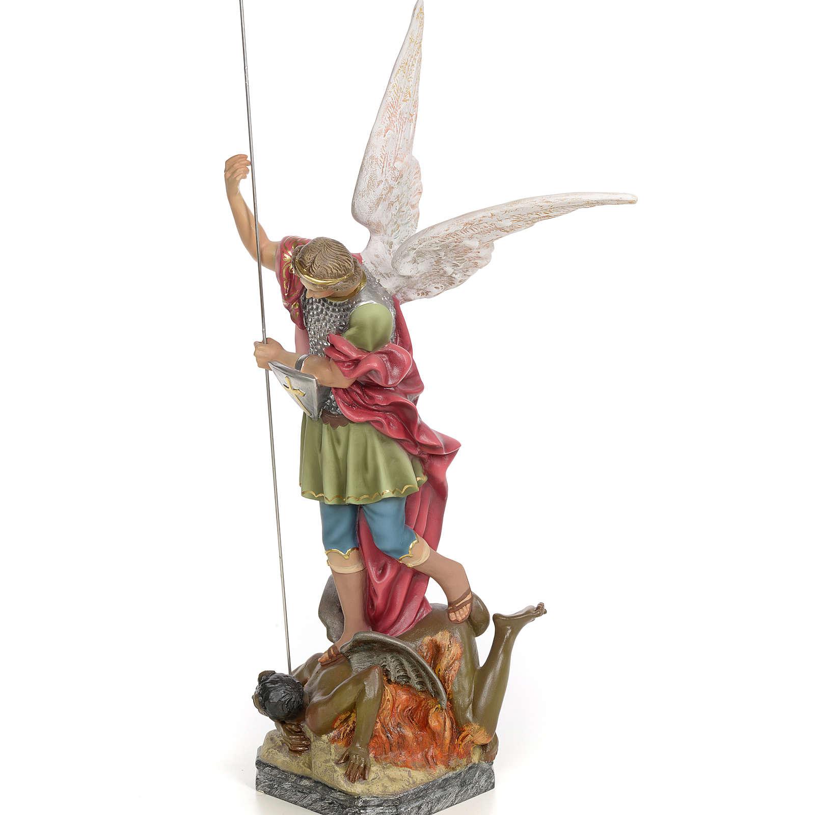 Saint Michael 50cm, wood paste, elegant decoration 4