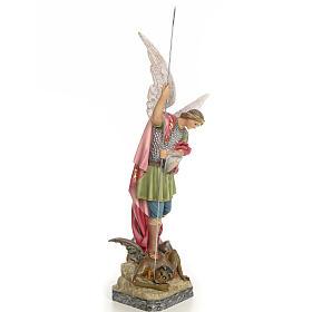 Saint Michael 50cm, wood paste, elegant decoration s4