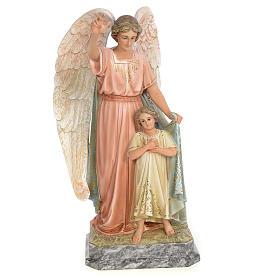 Guardian Angel 50cm, wood paste, elegant decoration s1