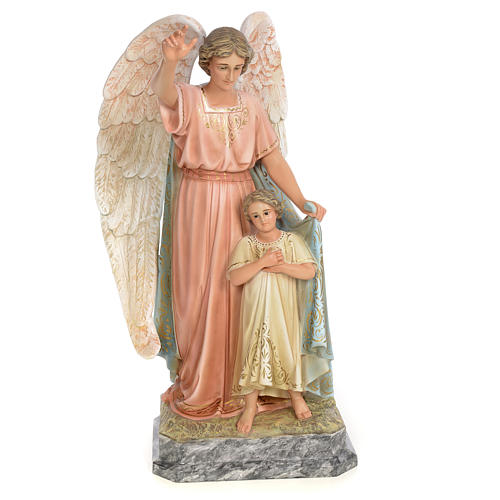 Guardian Angel 50cm, wood paste, elegant decoration 1