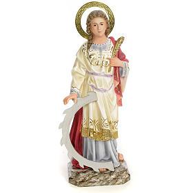 Santa Caterina Martire 40 cm pasta di legno dec. elegante s1
