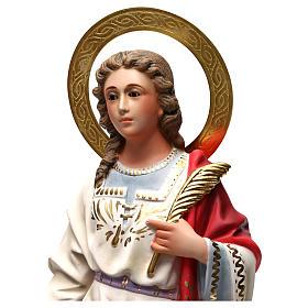 Santa Caterina Martire 40 cm pasta di legno dec. elegante s2