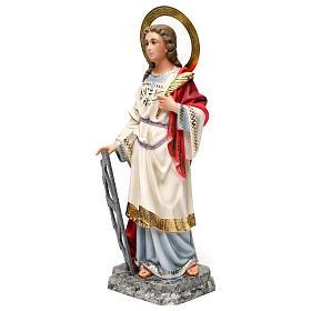Santa Caterina Martire 40 cm pasta di legno dec. elegante s3