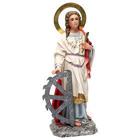 Santa Caterina Martire 40 cm pasta di legno dec. elegante s4