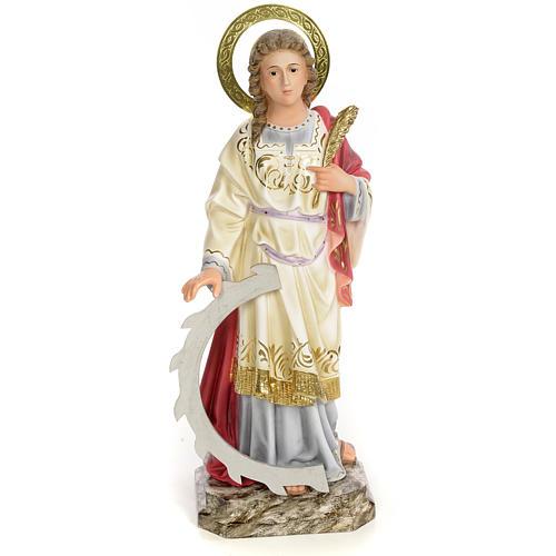 Santa Caterina Martire 40 cm pasta di legno dec. elegante 1