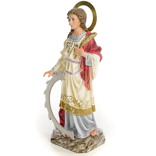 Santa Caterina Martire 40 cm pasta di legno dec. elegante 2
