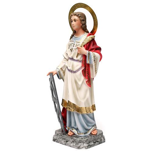 Santa Caterina Martire 40 cm pasta di legno dec. elegante 3