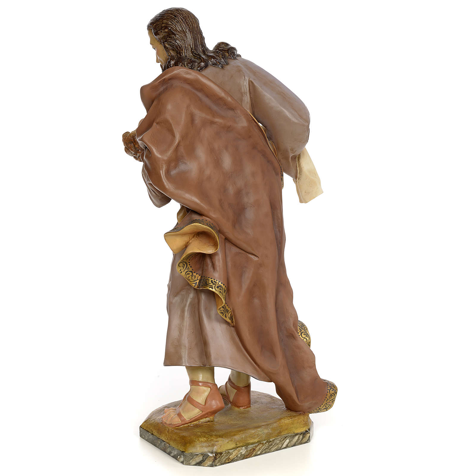 San Giuseppe con bambino 80 cm pasta legno dec. anticata 4