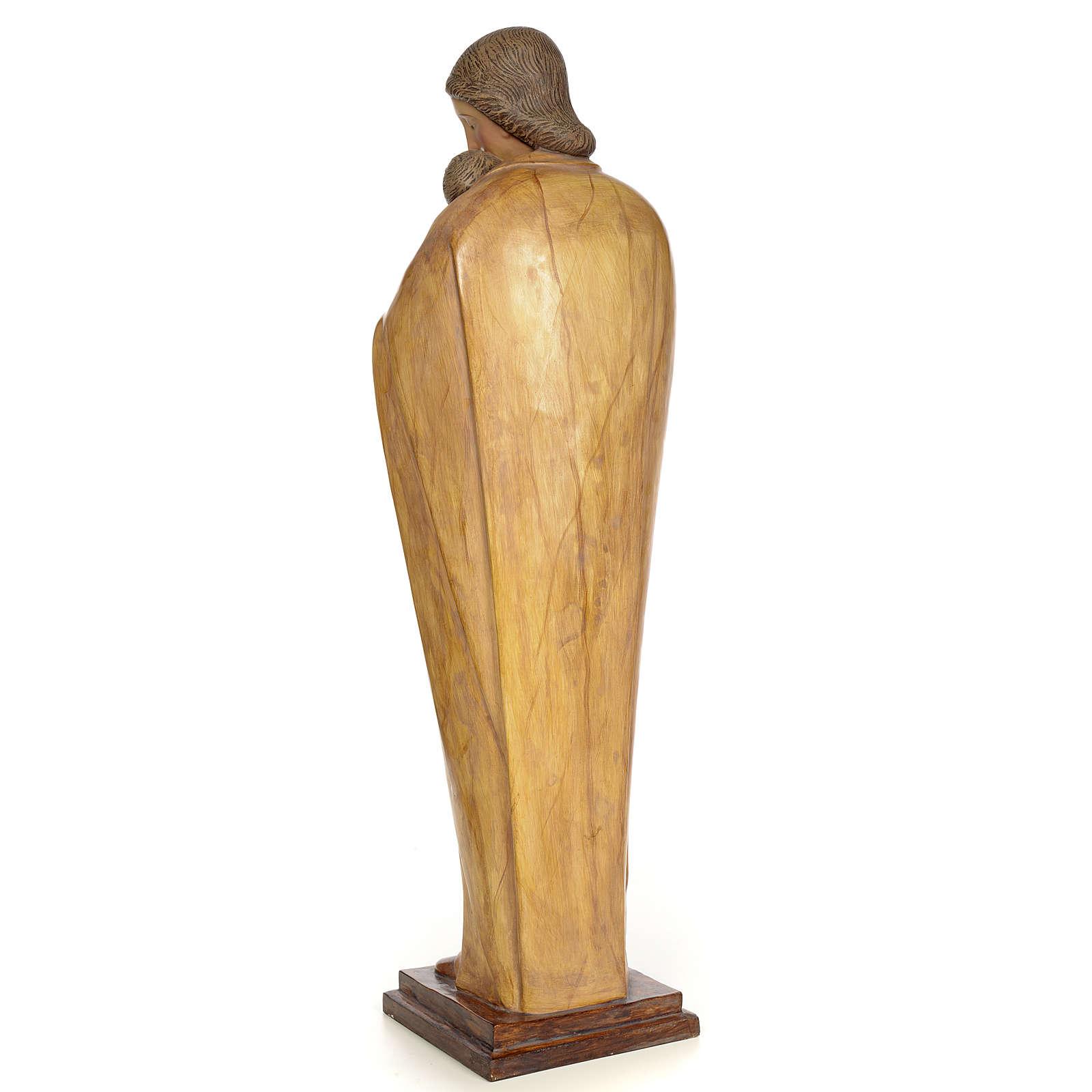 Vergine con bambino 100 cm pasta di legno dec. brunita 4