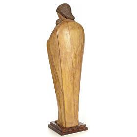Vergine con bambino 100 cm pasta di legno dec. brunita s3