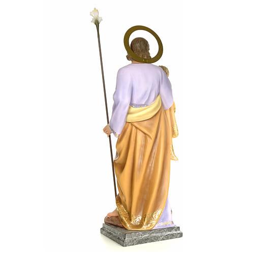 San Giuseppe con bambino 120 cm pasta di legno dec. elegante 3