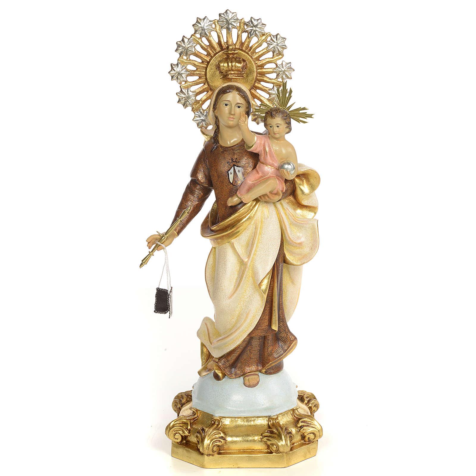Madonna del Carmelo 50 cm pasta di legno dec. speciale 4