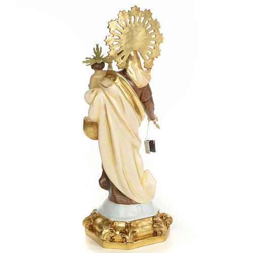 Madonna del Carmelo 50 cm pasta di legno dec. speciale 3