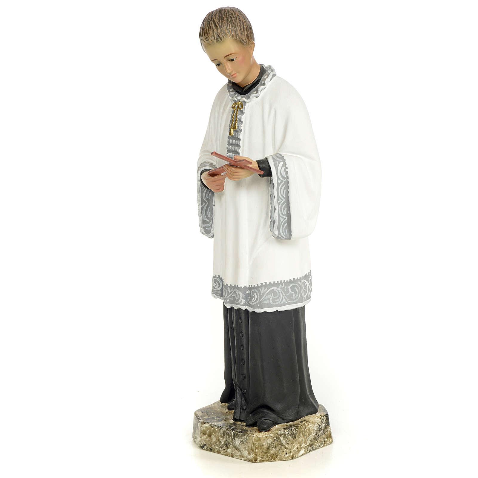 San Luigi Gonzaga 30 cm pasta di legno dec. fine 4