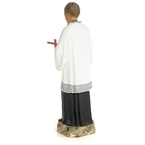 San Luigi Gonzaga 30 cm pasta di legno dec. fine 3