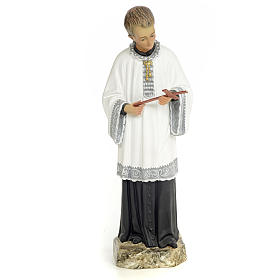 Saint Aloysius Gonzaga 30cm, wood paste, fine decoration s1