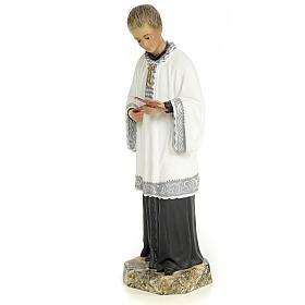 Saint Aloysius Gonzaga 30cm, wood paste, fine decoration s2
