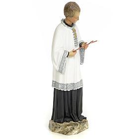 Saint Aloysius Gonzaga 30cm, wood paste, fine decoration s4