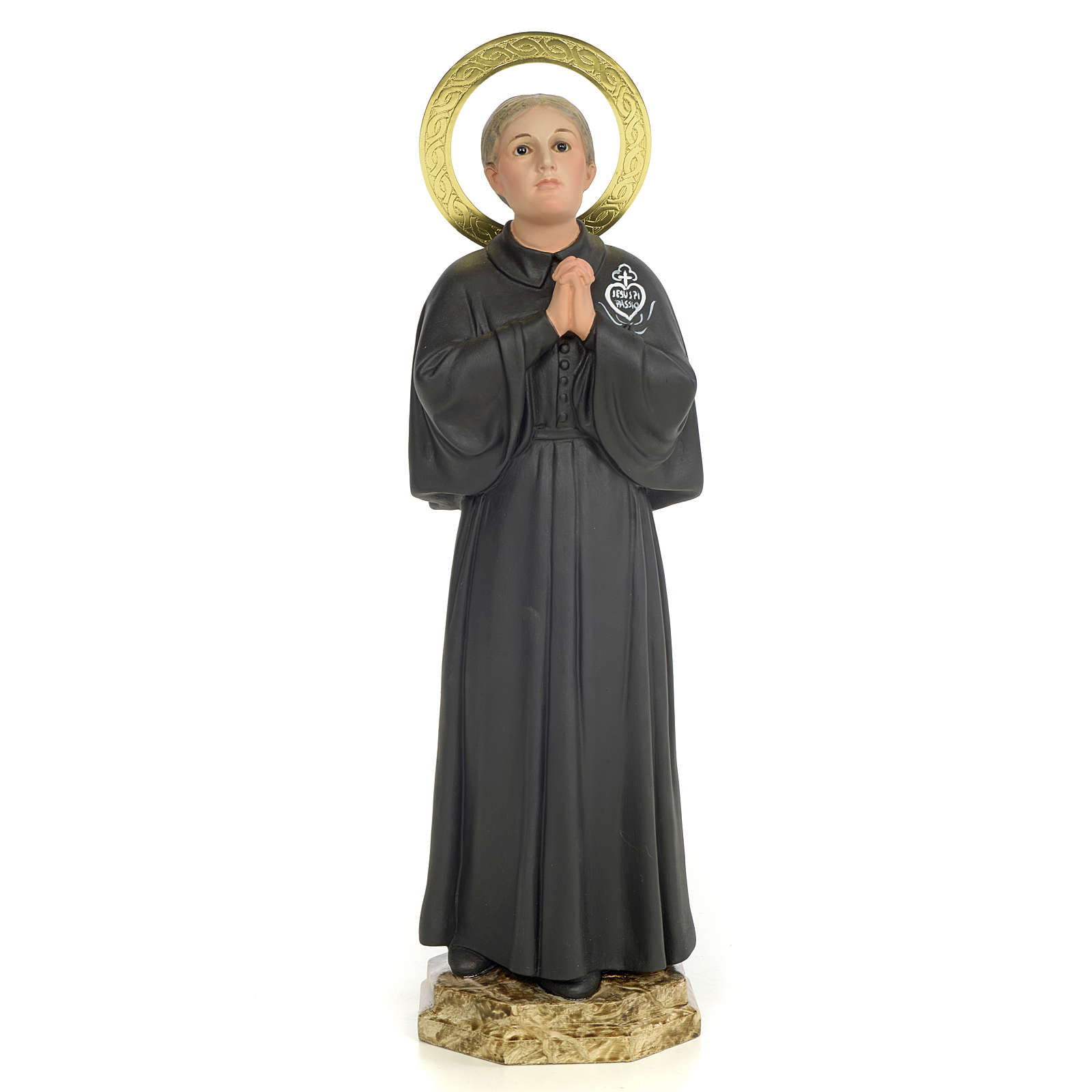 Santa Gemma Galgani 40 cm pasta di legno dec. elegante 4