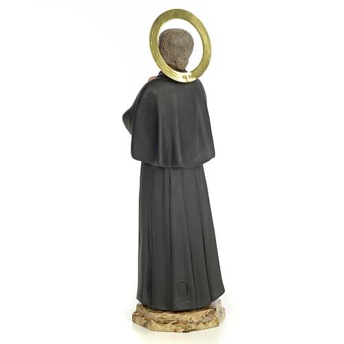 Santa Gemma Galgani 40 cm pasta di legno dec. elegante 3