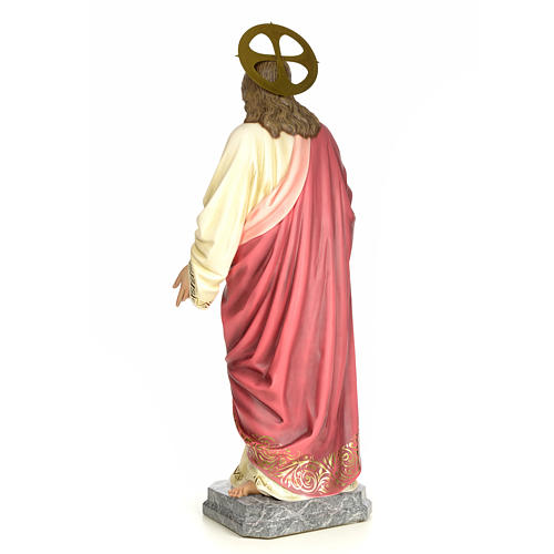 Sacro Cuore Gesù 120 cm pasta di legno dec. elegante 3