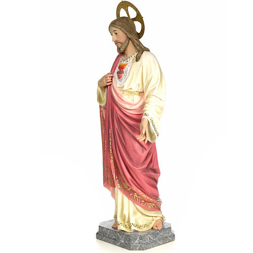 Sacred Heart of Jesus 120cm, wood paste, elegant decoration 2