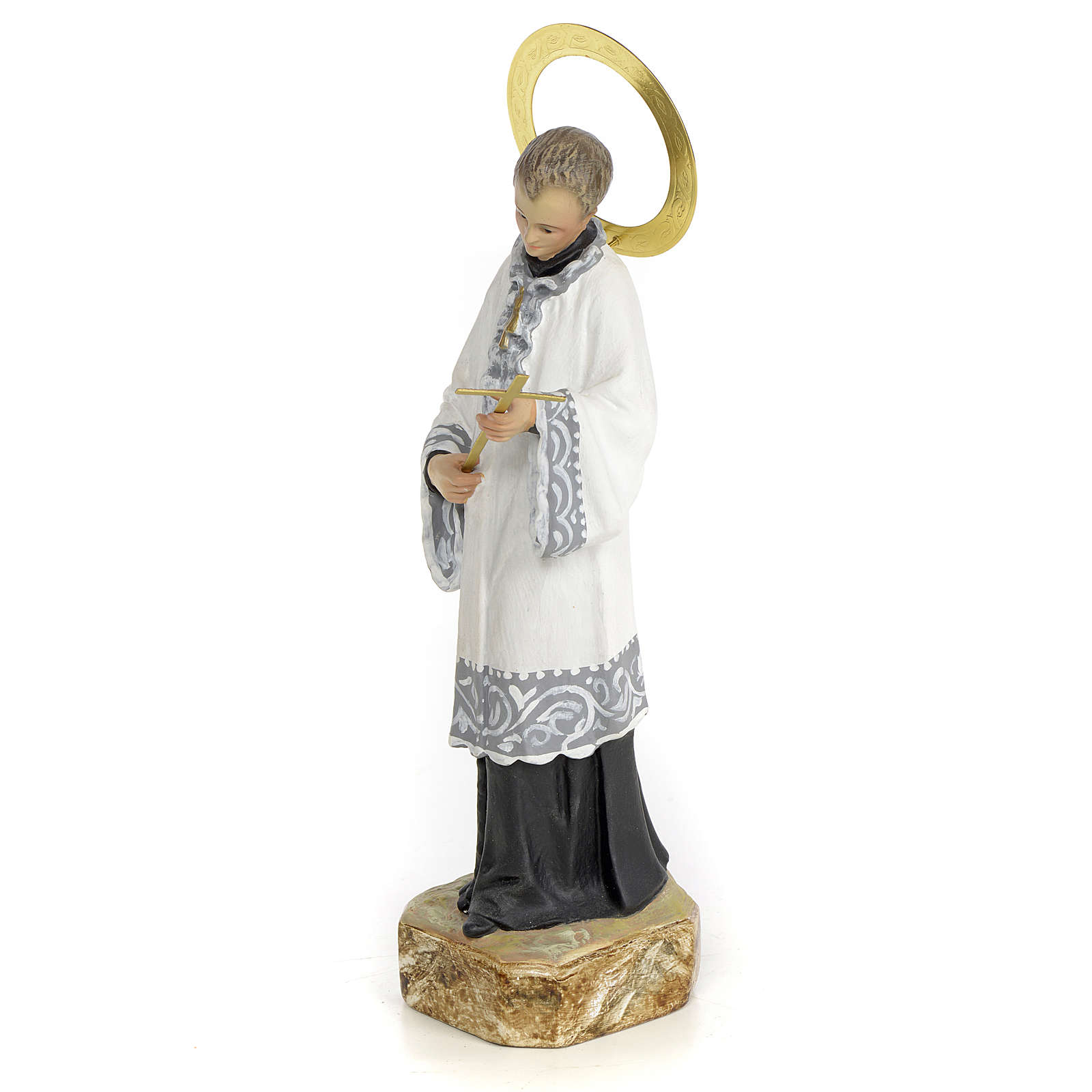 Saint Aloysius Gonzaga 20cm, wood paste, elegant decoration 4