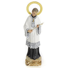 Saint Aloysius Gonzaga 20cm, wood paste, elegant decoration s1