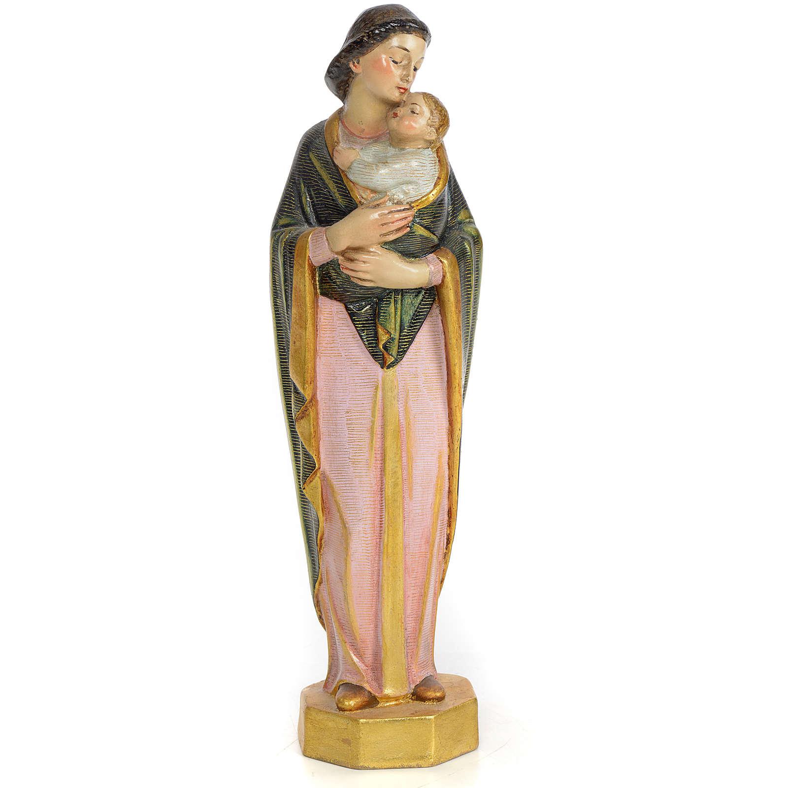 Vergine con bimbo 30 cm pasta di legno dec. speciale 4
