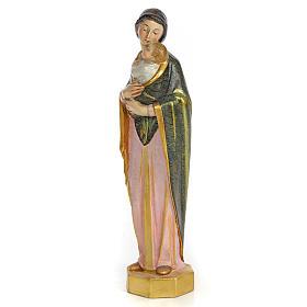 Vergine con bimbo 30 cm pasta di legno dec. speciale s2