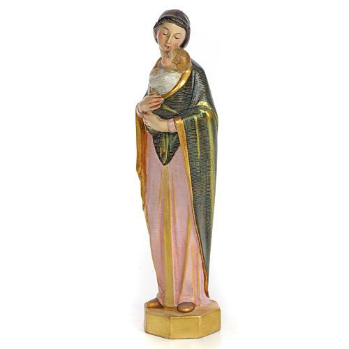 Vergine con bimbo 30 cm pasta di legno dec. speciale 2