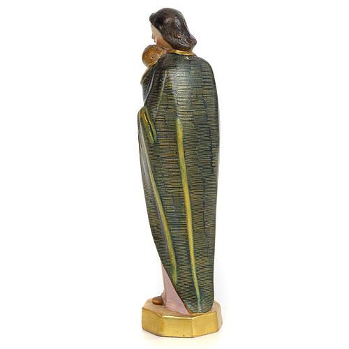 Vergine con bimbo 30 cm pasta di legno dec. speciale 3