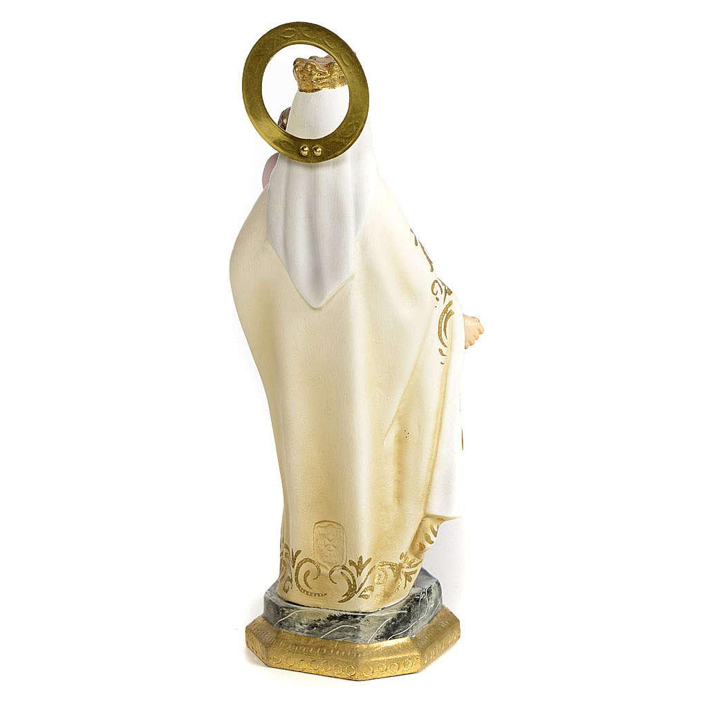 Madonna del Carmelo 20 cm pasta di legno dec. elegante 4