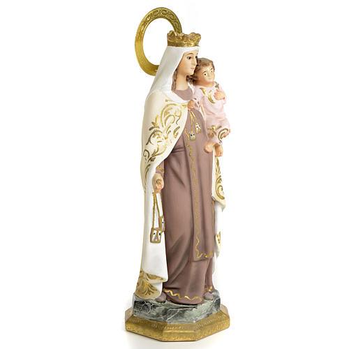 Nossa Senhora do Carmo 20 cm pasta madeira acab. elegante 2