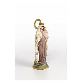 Our Lady of Mount Carmel 20cm, wood paste, elegant decoration s4