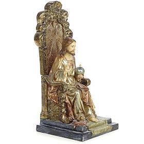 Sacro Cuore Gesù 25 cm pasta legno dec. policroma s4