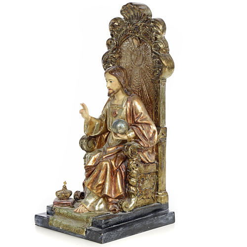 Sacro Cuore Gesù 25 cm pasta legno dec. policroma 2