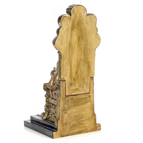 Sacro Cuore Gesù 25 cm pasta legno dec. policroma 3