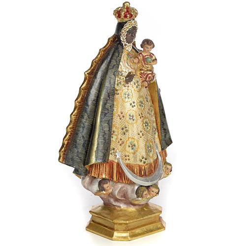 Schwarze Madonna 30cm Holzmasse, extra Finish