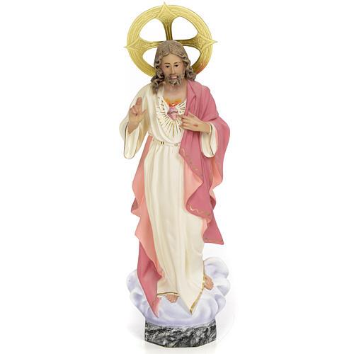 Sagrado Corazón de Jesús 30cm dec. fina pasta de m 1