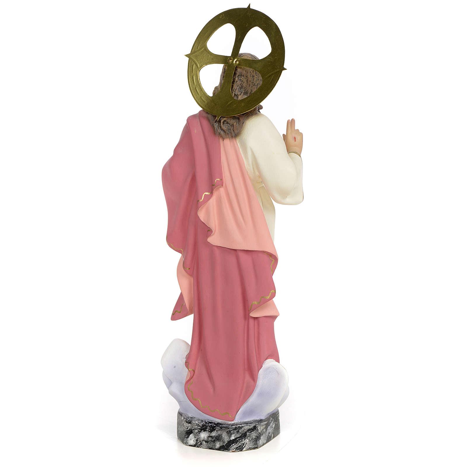 Sacro Cuore di Gesù 30 cm pasta di legno dec. fine 4