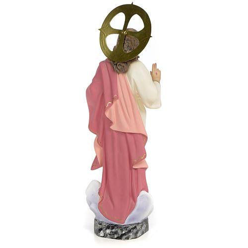 Sacro Cuore di Gesù 30 cm pasta di legno dec. fine 3