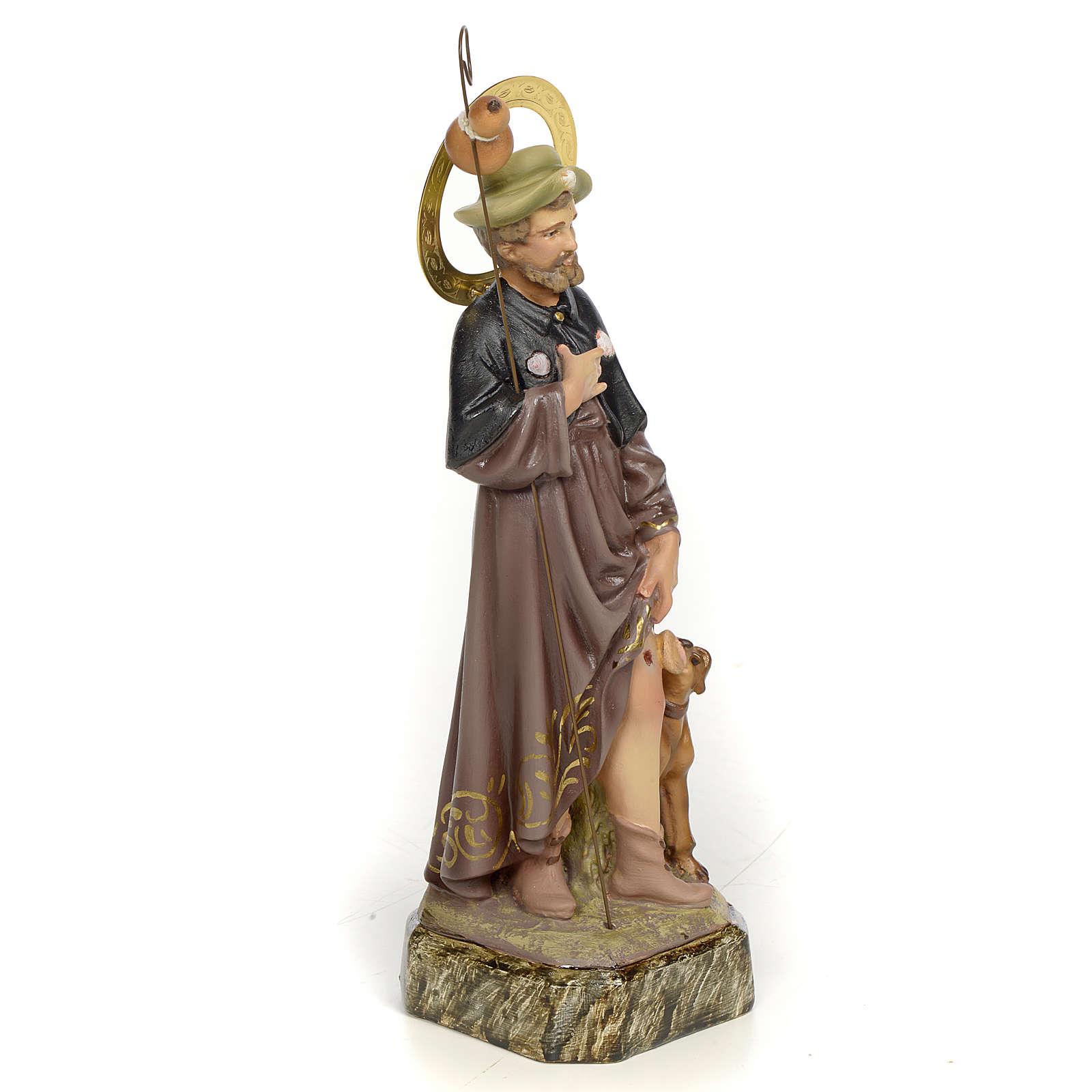 Saint Roch 20cm, wood paste, elegant decoration 4