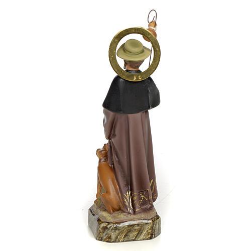 Saint Roch 20cm, wood paste, elegant decoration 3
