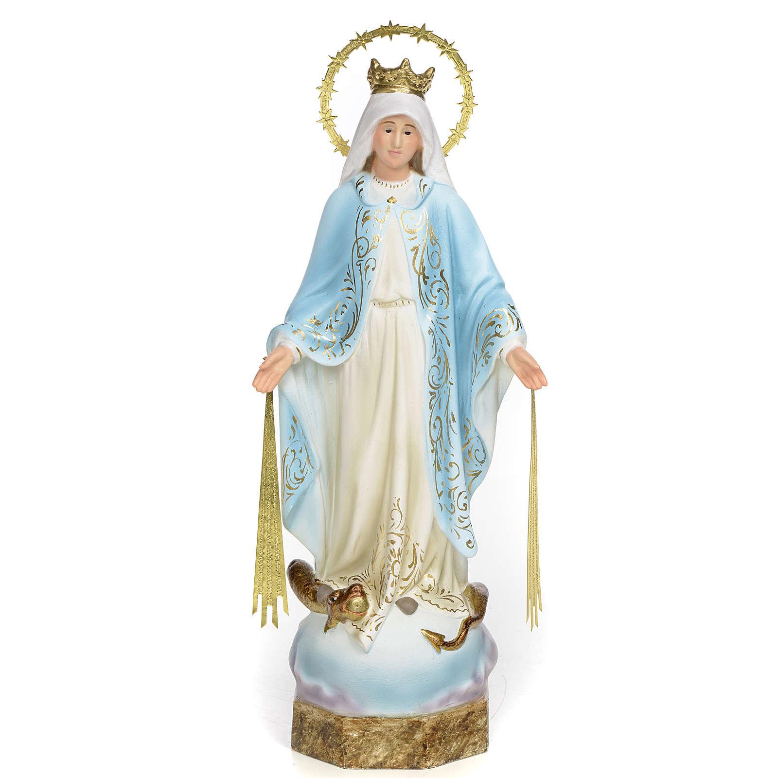 Vierge Miraculeuse 30 cm pâte à bois finition élégante 4