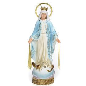 Vierge Miraculeuse 30 cm pâte à bois finition élégante s1