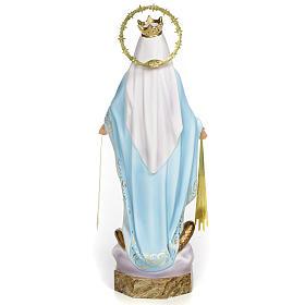 Vierge Miraculeuse 30 cm pâte à bois finition élégante s3