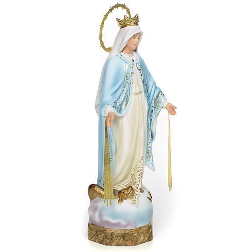 Vierge Miraculeuse 30 cm pâte à bois finition élégante 2
