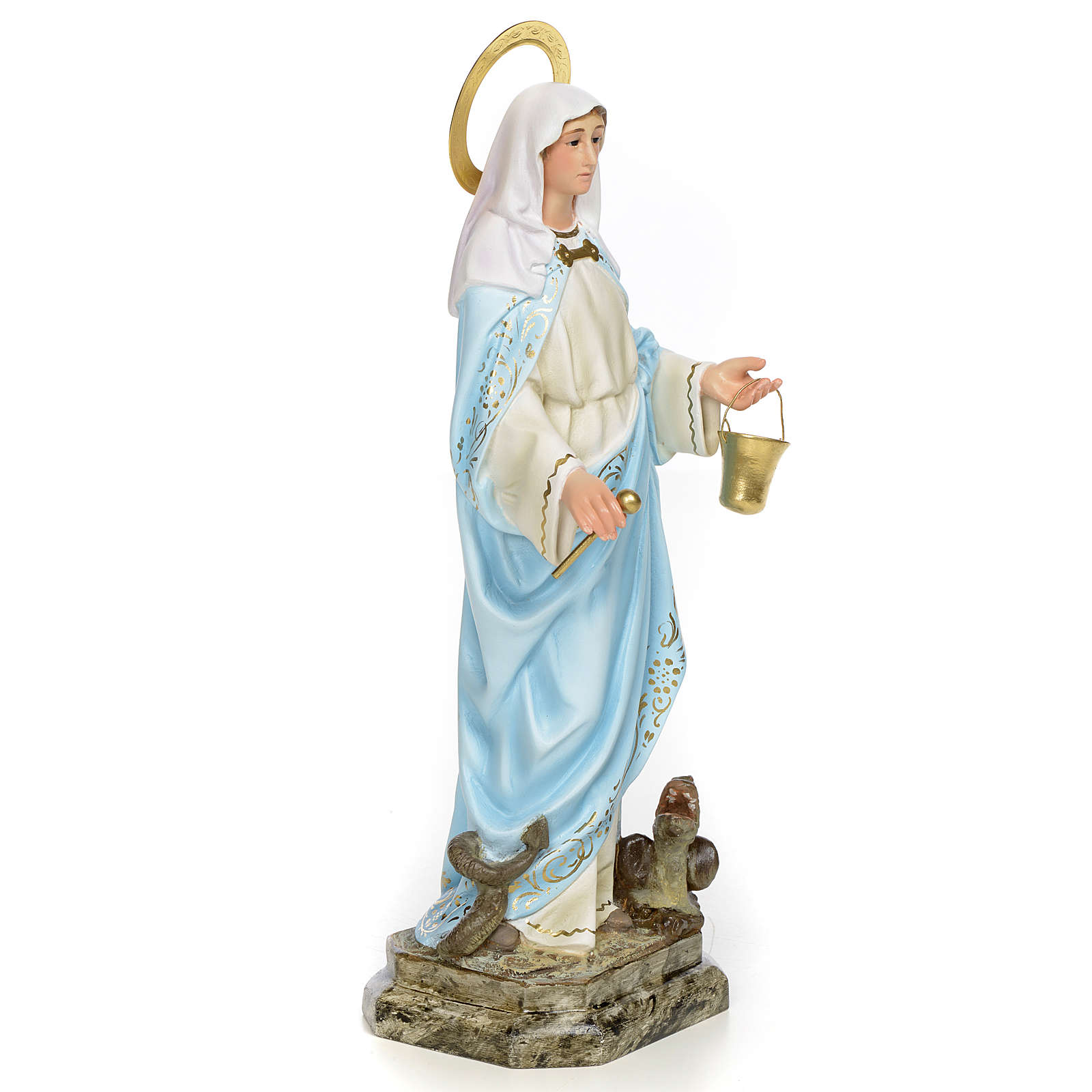 Saint Martha 30cm, wood paste, elegant decoration 4